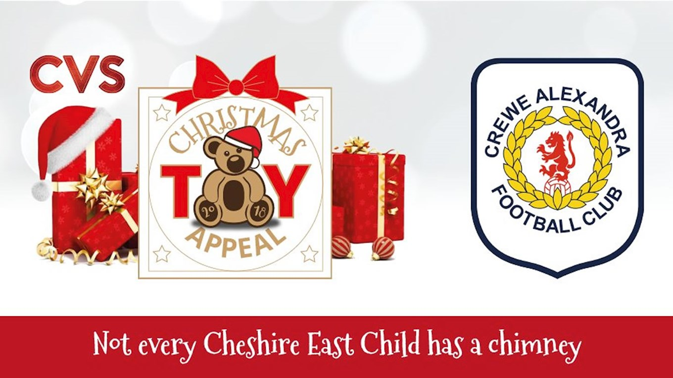 Toy Appeal: Donate At Crewe Alex For Christmas - News - Crewe Alexandra