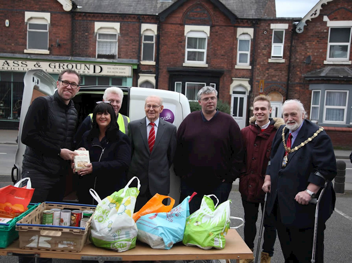 Food Bank Supporters Group Holding Collection Before