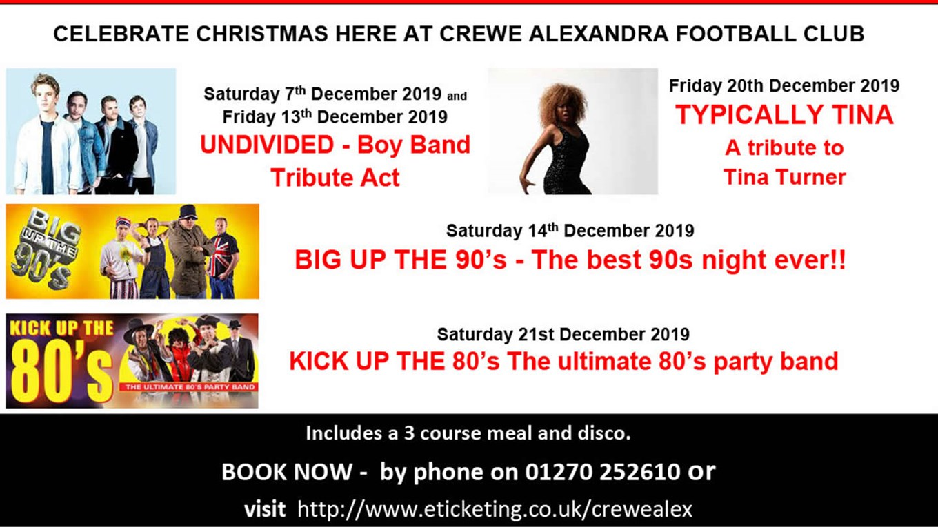 A Christmas To Remember 2019.Christmas Parties Book A Night To Remember News Crewe